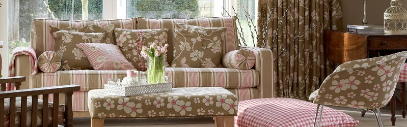 Curtains, cushions, upholstery and soft furnishings from the Vanessa Arbuthnott collection